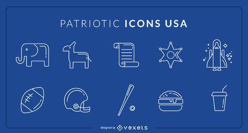 Iconos patrióticos Estados Unidos