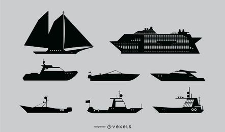 Nautical Ship Silhouette Set