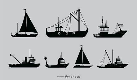 Design de silhueta de navio náutico