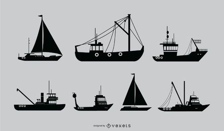 Nautical Ship Silhouette Design