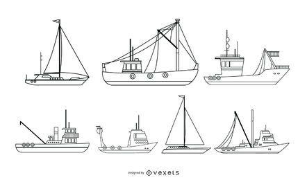 Coleção de vetores de navio náutico