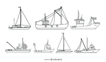 Seeschiffs-Vektor-Sammlung