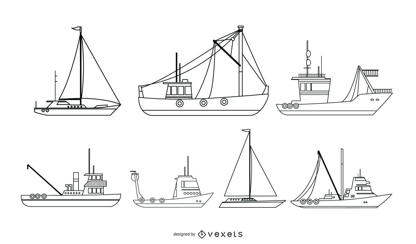 Nautical Ship Vector Collection