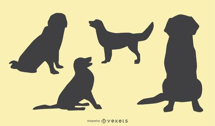 Dog Silhouette Design