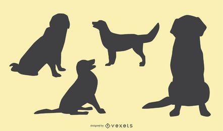 Projeto da silhueta do cão