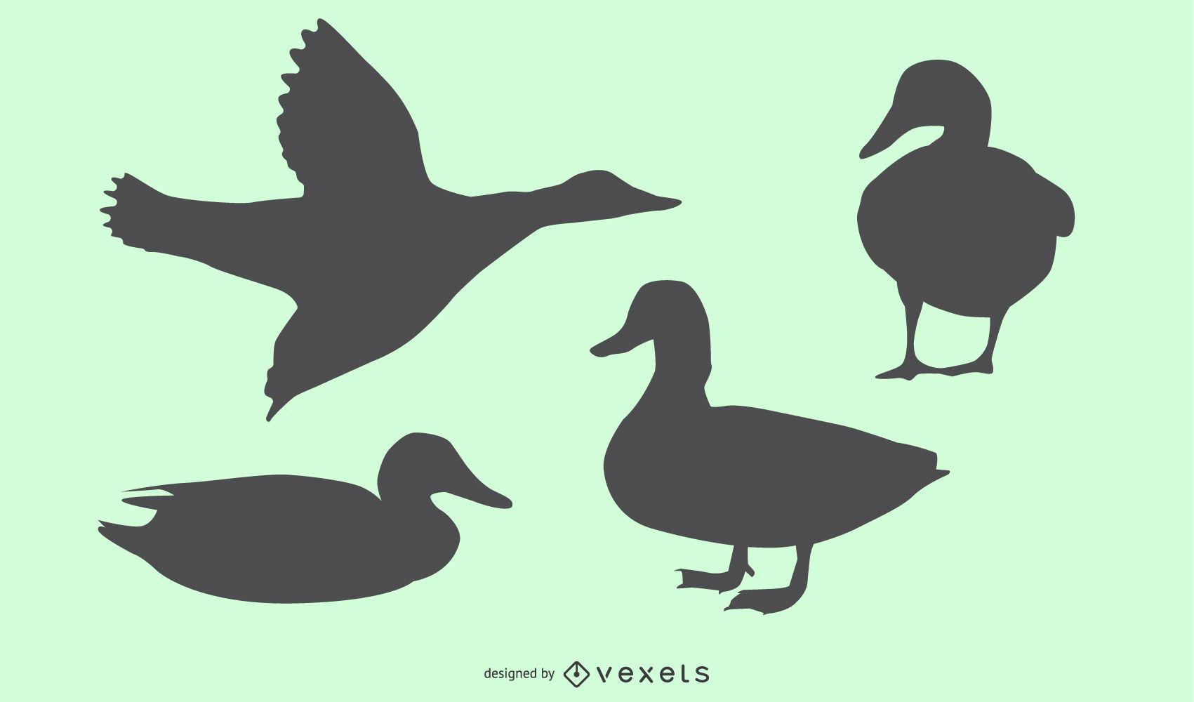 Diseño de silueta de pato