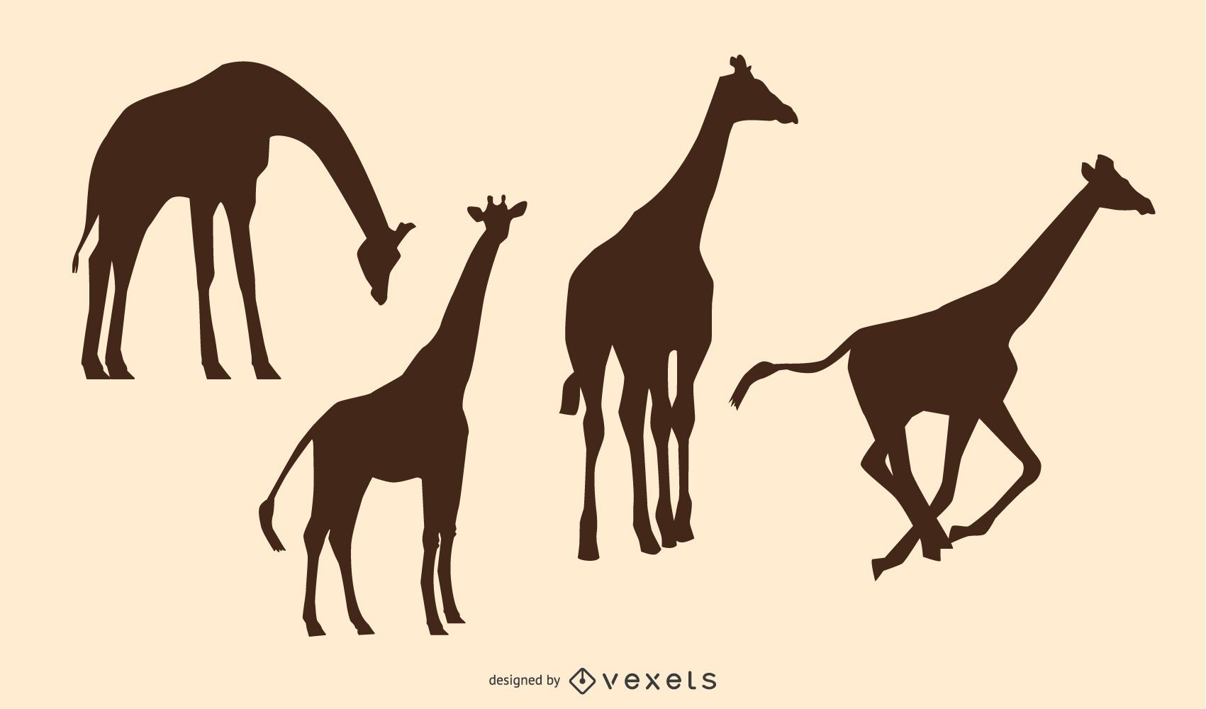 Giraffe Animal Silhouette pack