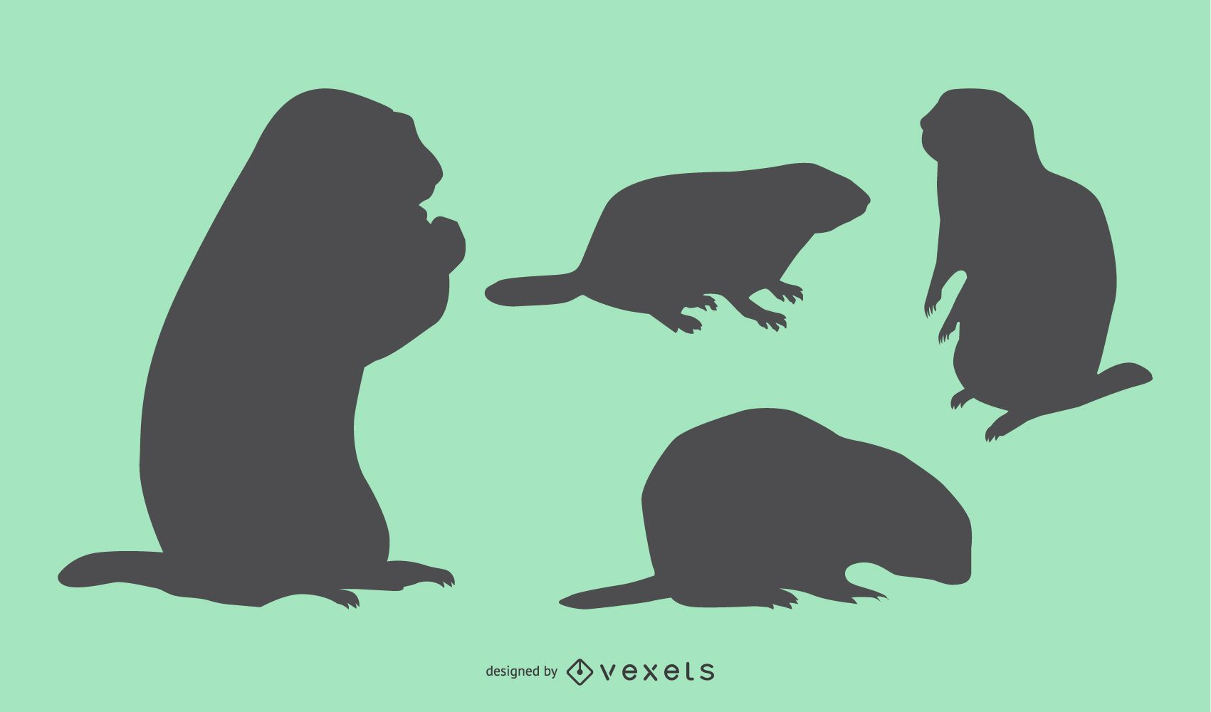 Groundhog Silhouette Collection