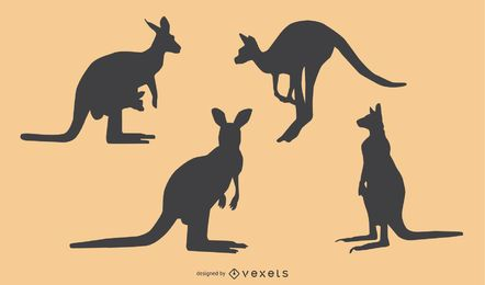 Känguru-Silhouette-Design