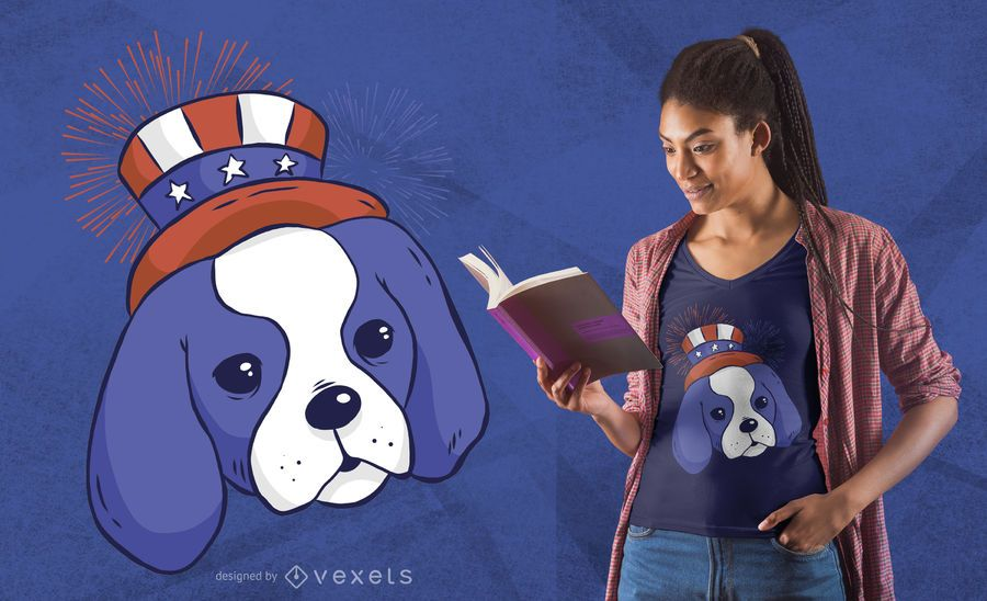 American puppy t-shirt design