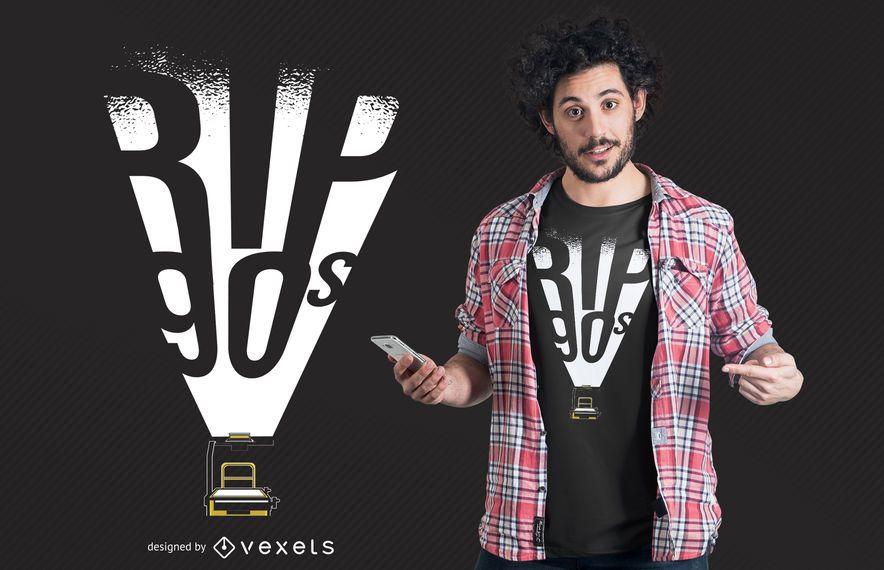 Projeto do t-shirt do rasgo 90s