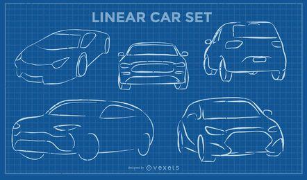 Juego de carros lineales
