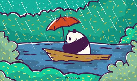 Panda de canoa