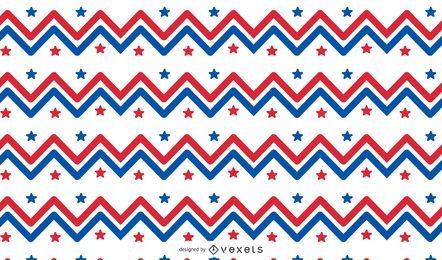 Diseño de patrón de zig zag de Estados Unidos