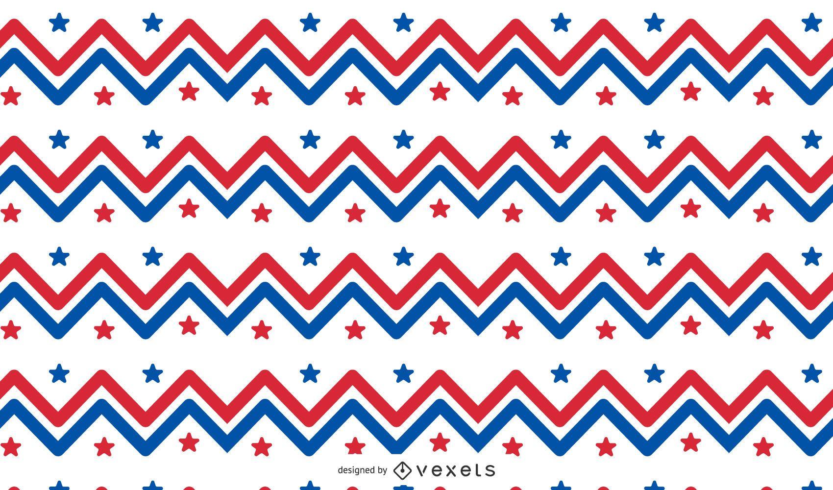 Diseño de patrón de zig zag de EE. UU.