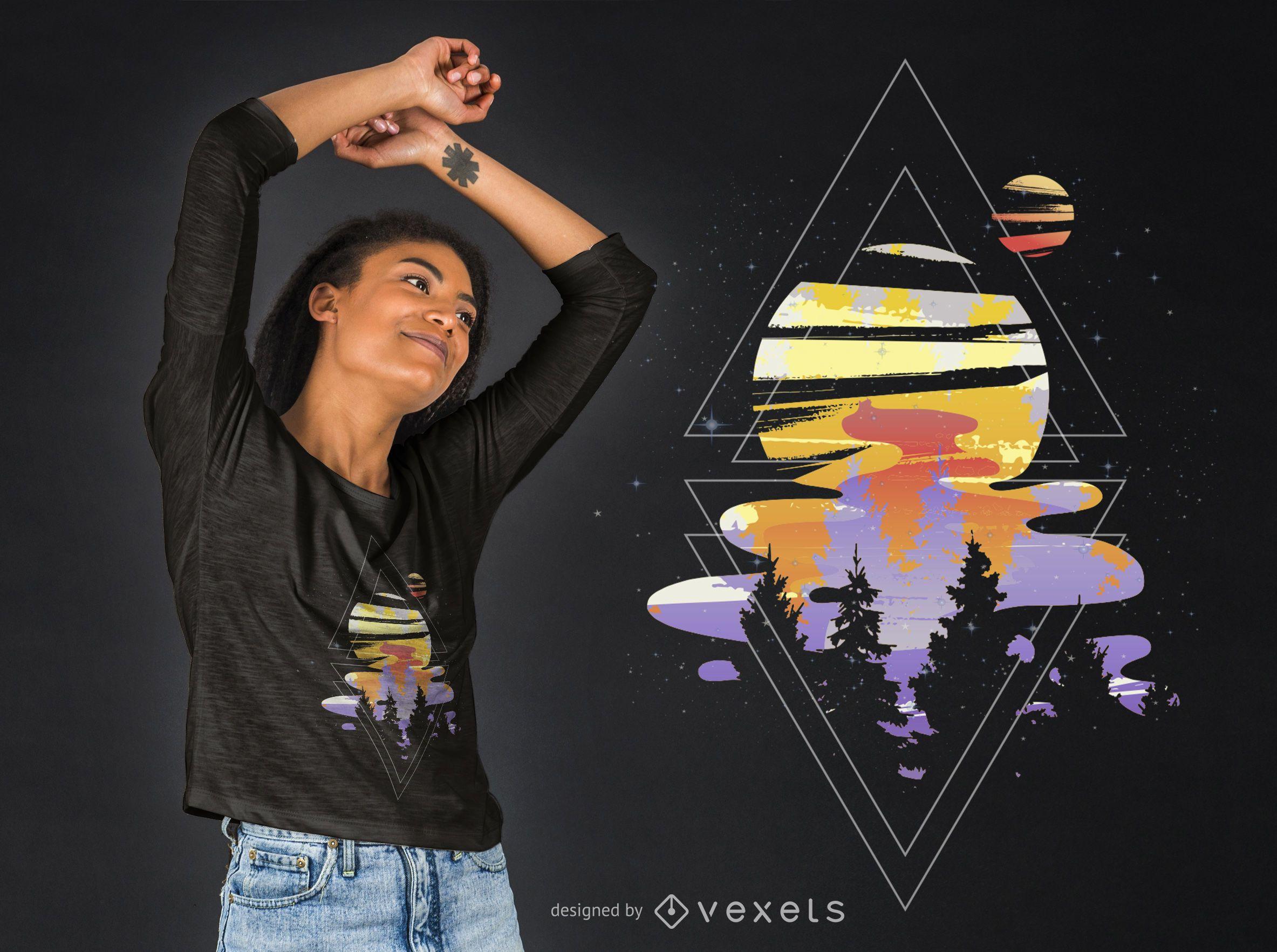 Cosmic Woods T-shirt Design