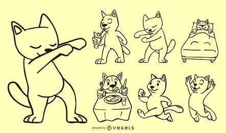 Ilustração de rabiscos de gato