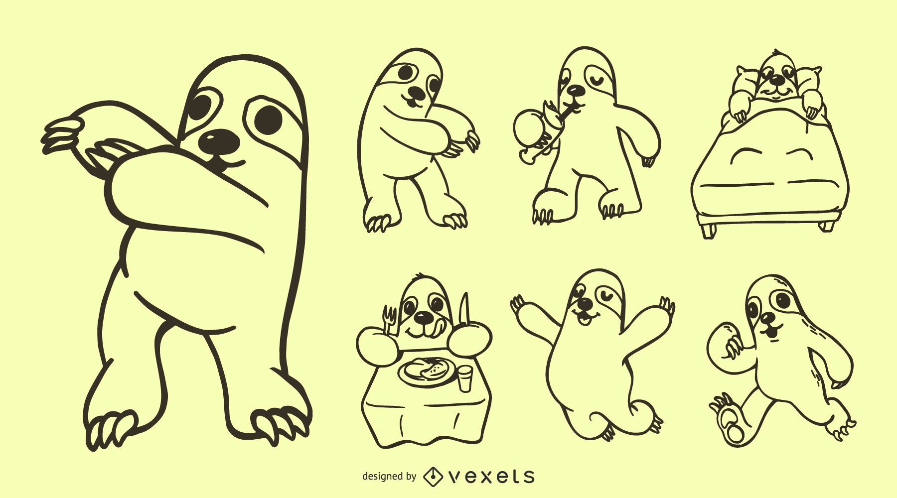 Sloth Doodle Collection