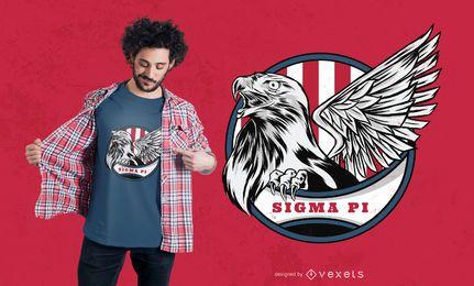 Diseño de camiseta de águila de Estados Unidos