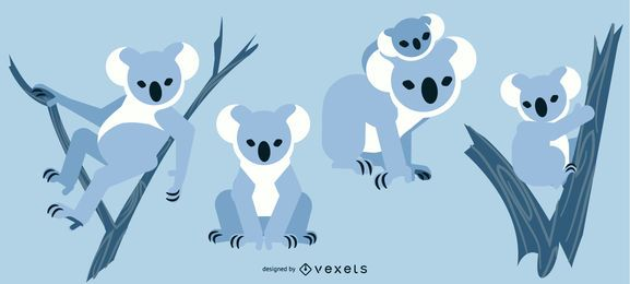 Koala Rounded Flat Geometric Design