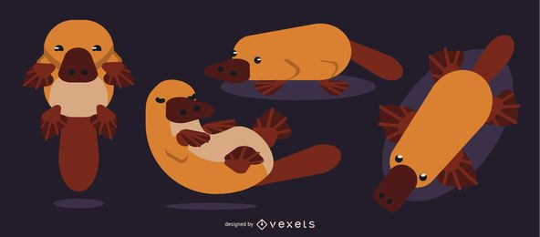 Platypus Rounded Flat Geometric Design