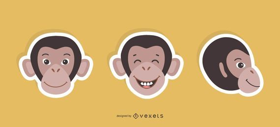 Monkey Sticker Set