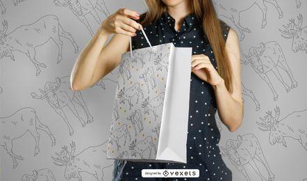 Diseño de patrón de trazo de alce