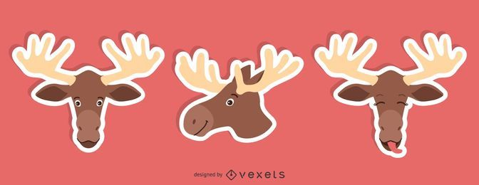Moose Sticker Set