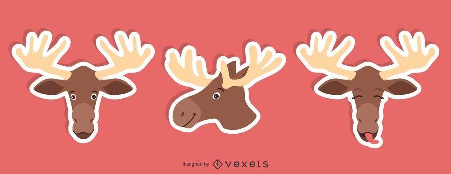Moose Sticker Set