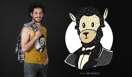 Diseño de camiseta Lincoln Llama