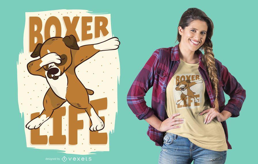 Projeto do t-shirt da vida do cão