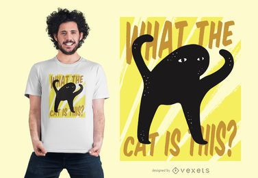 Cat Creature T-shirt Design