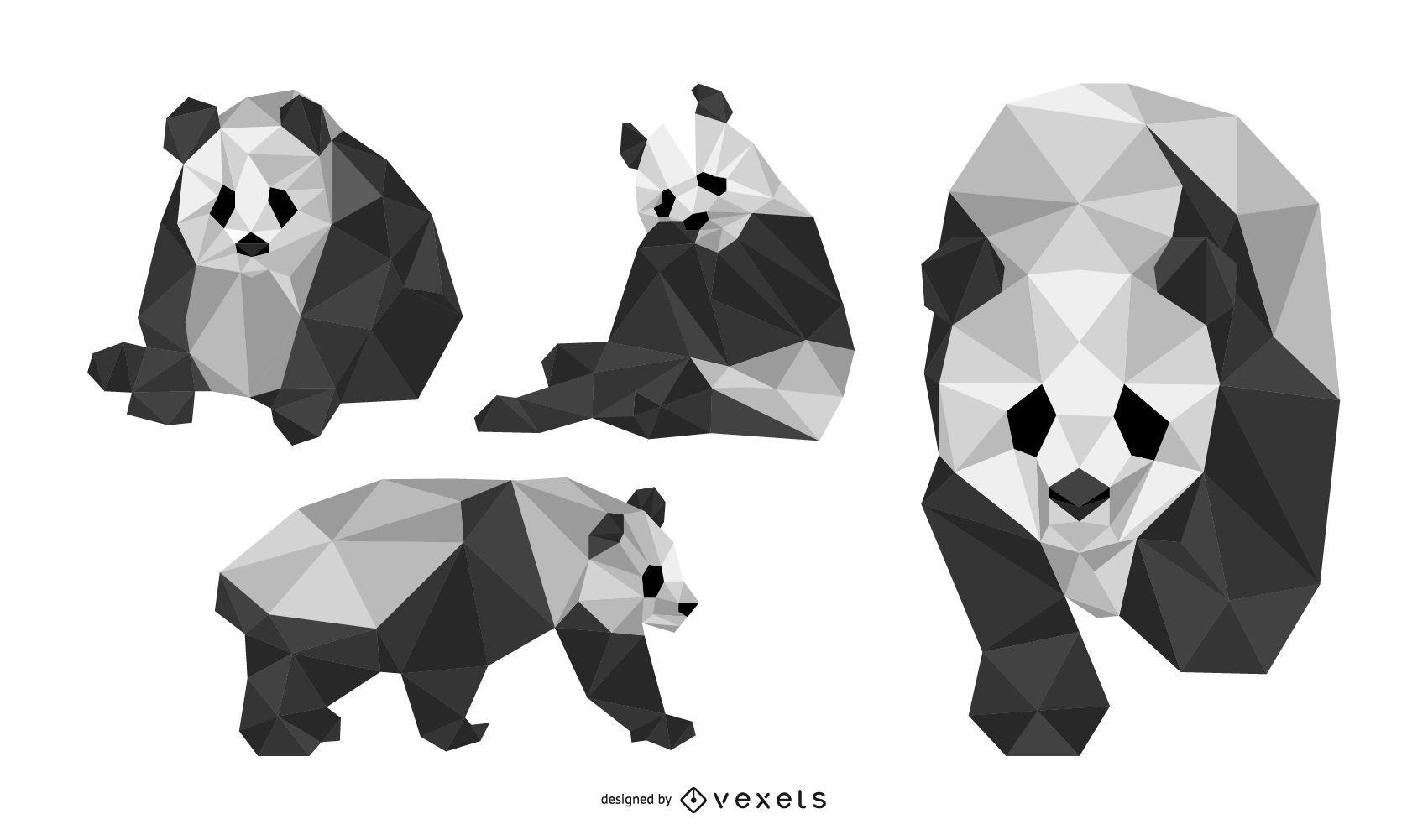 Panda Geometrical Design