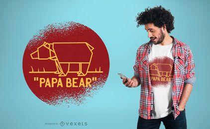 Projeto do t-shirt do urso da papá