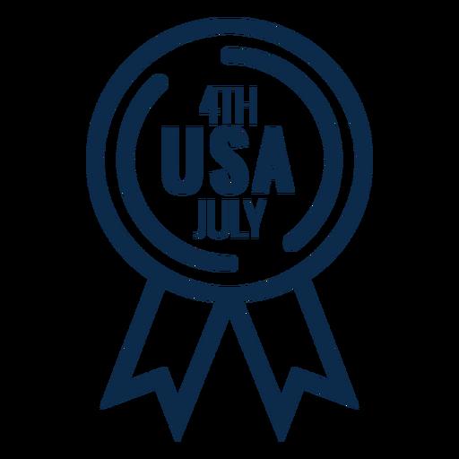 4th july award ribbon flat