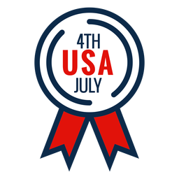 4th july award ribbon icon