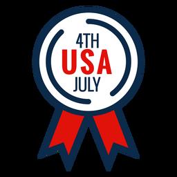 Icono de cinta de premio del 4 de julio