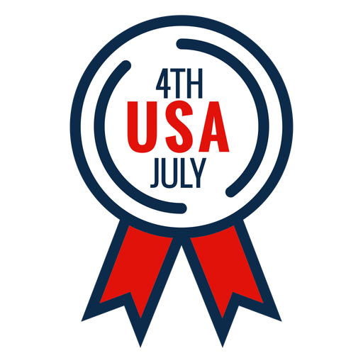 4th july award ribbon icon Transparent PNG