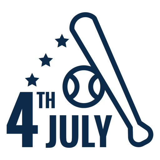 4th july baseball bat flat Transparent PNG