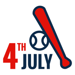 4th july baseball bat icon