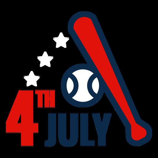 Icono de bate de b?isbol del 4 de julio