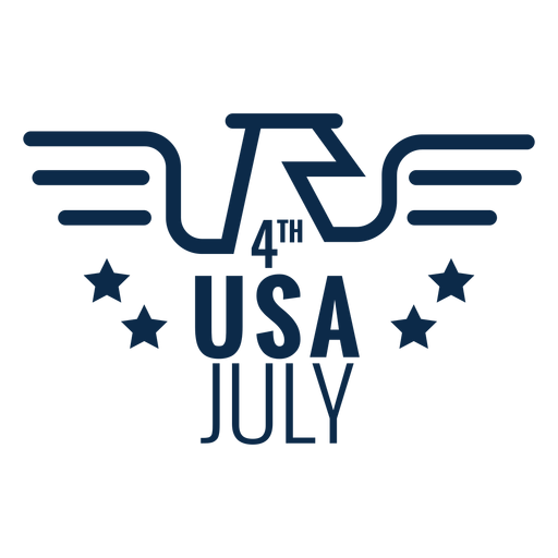 4th july eagle flat Transparent PNG
