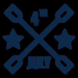 4 de julio plano gráfico