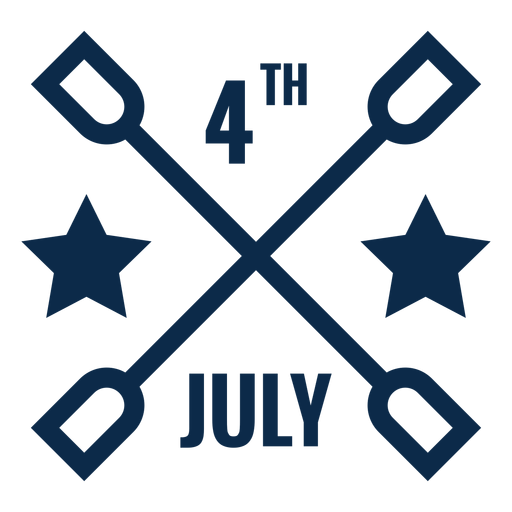 4th july graphic flat Transparent PNG