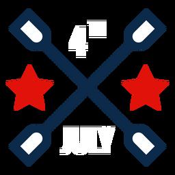 4 de julio icono gráfico