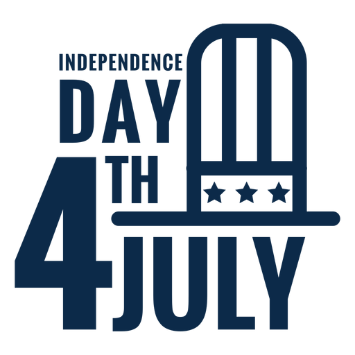 4th july hat lettering flat Transparent PNG