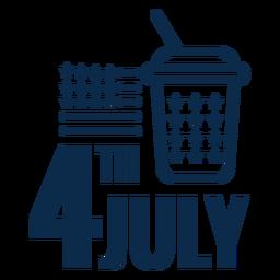 4 de julho refrigerante plana