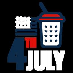 4. Juli alkoholfreies Getränk-Symbol
