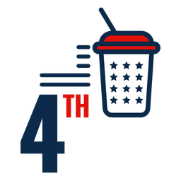 Ícone de refrigerante de 4 de julho