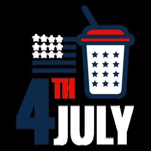 Ícone de refrigerante de 4 de julho Transparent PNG
